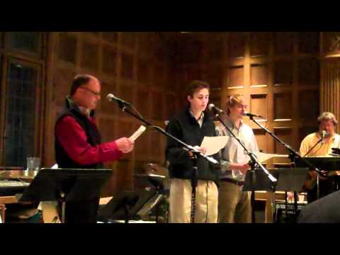 Barry McRae and sons sing In the Bleak Midwinter
