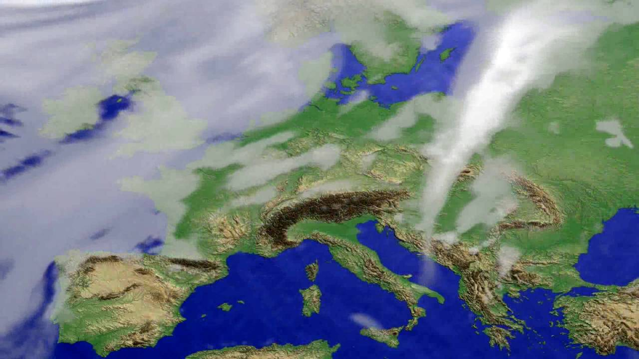 Cloud forecast Europe 2016-06-27