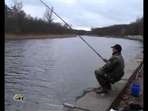 ловить плотву на маховую удочку видео