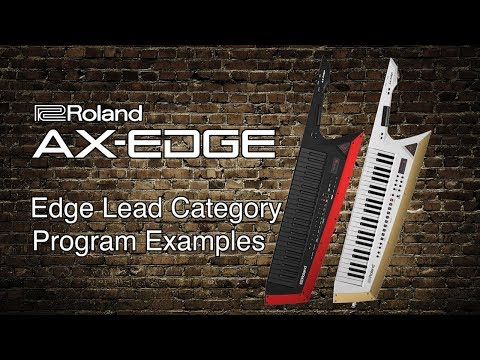 Roland AX-Edge - Lead Category Program Examples