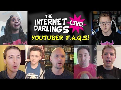 YouTuber FAQs! | Internet Darlings Live