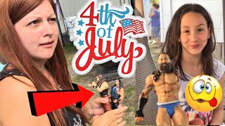 Heel wife gets triggered about grim playing with his toys during the 4th of july bbq at her family house and she reveals that she is possibly pregnant in this hilarious fun happy family holiday daily vlog! fan mail addressgrims toy showpo box 371island heights nj 08732GTS SHIRTS AT http://www.prowrestlingtees.com/grimstoyshowGTS CHANNEL: https://www.youtube.com/watch?v=InsA0vtvSK8GRIMS TOY CHANNEL: https://www.youtube.com/watch?v=gaXIJukCHksMORE FUN AT OUR WEBSITE http://grimstoyshow.com/FOLLOW US ON TWITTER https://twitter.com/GrimsToyShow