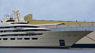 New MEGA Yacht Float Out - Project Omar - World biggest Yacht