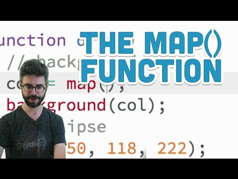 2.4: The map() Function - p5.js Tutorial (видео)