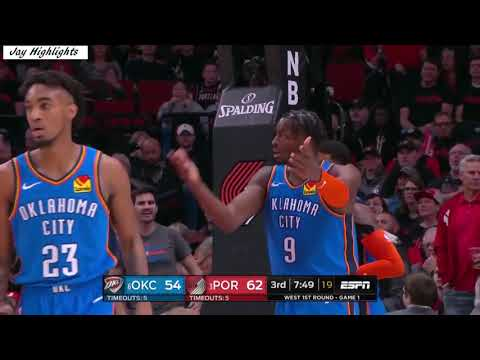 OKC Thunder vs Portland Trail Blazers NBA2K19 Playoffs Game 1 Highlights April 14, 2019