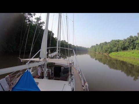 SLOW TV - Sailing Up the Maroni River, French Guiana - Sailing Vessel Delos_A héten feltöltött legjobb vitorlázás videók