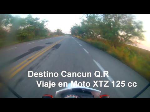 OMG CRUZANDO EL MAR - Etapa 2 - Viaje a Cancun YAMAHA XTZ 125 CC