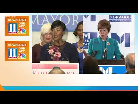 Keisha lance Bottoms and Mary Norwood head for runoff in Atlanta mayoral race