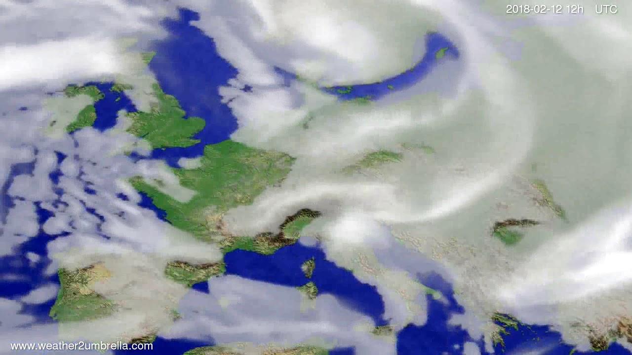 Cloud forecast Europe 2018-02-08