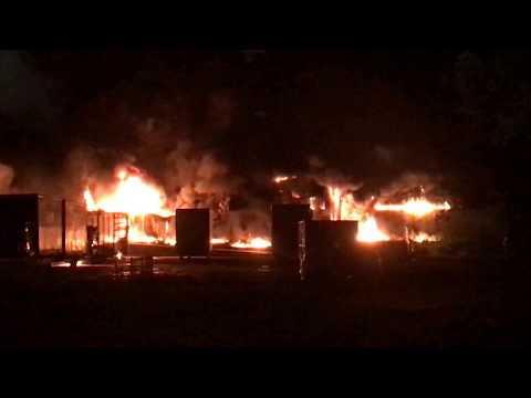 Wideo: Pożar fabryki styropianu koło Pol-Miedź Trans