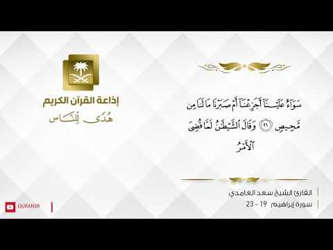 القارئ سعد الغامدي - أَلَمْ تَرَ أَنَّ اللَّهَ خَلَقَ السَّمَاوَاتِ وَالْأَرْضَ بِالْحَقِّ