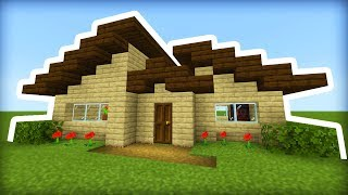 Minecraft Tutorial: How To Make A Modern Wooden Survival House (Easy to Make!)