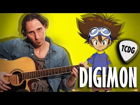 Como Tocar Digimon Adventure En Guitarra Acústica / Tutorial TCDG