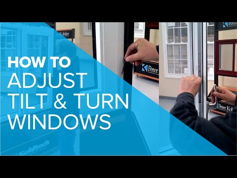 Adjustments on a Tilt & Turn Window