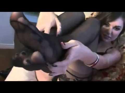 Саша Грей в черных чулках
