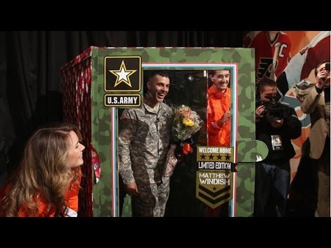Video: Flyers help soldier surprise family