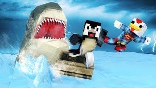 Minecraft | FISHING CHALLENGE - Shark Attack! (JAWS, SHARKS, BOAT MOD)