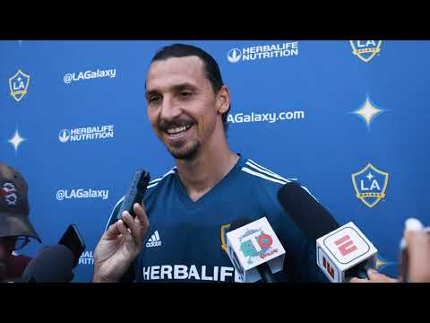 Video: Zlatan Ibrahimovic previews the LA Galaxy's match with LAFC