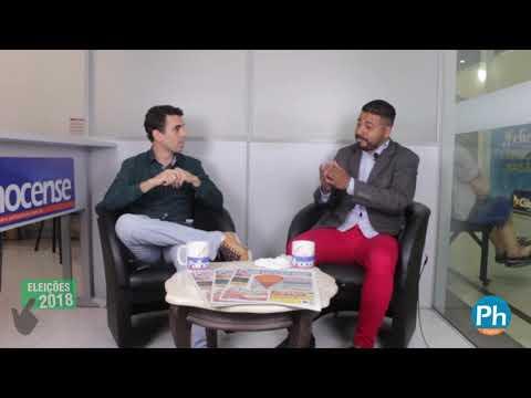 Candidato a deputada estadual Richard Goterra em entrevista ao jornal Palhocense