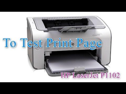 HP LaserJet Professional P1102 - Test Print Page