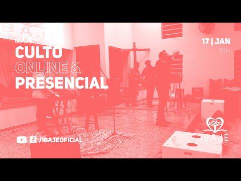 [LIVE] Culto Online IBAJE | Domingo, 17 de Janeiro | Pr. Rock Mariano