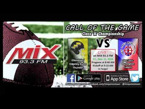 Dakota Bowl 24: Ellendale/Edgeley-Kulm vs Des Lacs-Burlington, 11-11-16 (видео)