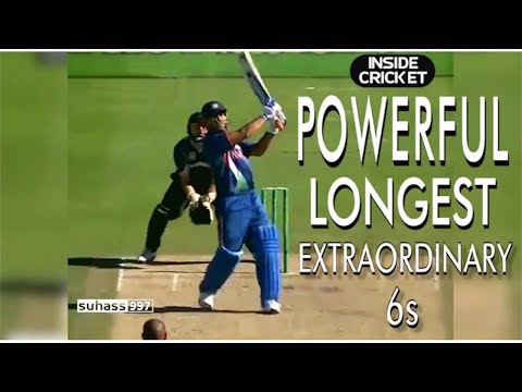 Ms Dhoni Power! The Best Biggest Powerful Sixes!