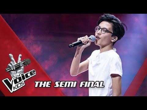 Justin - Fades Away | The Semi Final | The Voice Kids | VTM