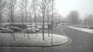 Scunthorpe United Kingdom  City pictures : Snowfall Experience near Tata Steel Scunthorpe,UK Admin Building-2