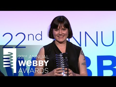 Kara Swisher presents the 22nd Annual Webby Person of the Year Award to Susan Fowler