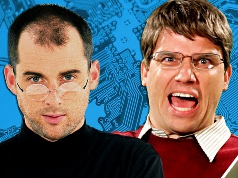Steve Jobs vs Bill Gates.  Epic Rap Battles of History Season 2. (видео)