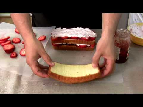 Lazy Man's Strawberry Cream Cake