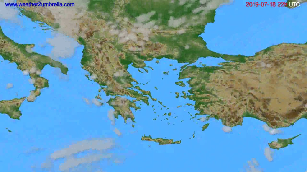 Cloud forecast Greece // modelrun: 00h UTC 2019-07-16