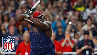 Vince Wilfork Softball Highlights | J.J. Watt Charity Classic | NFL by NFL