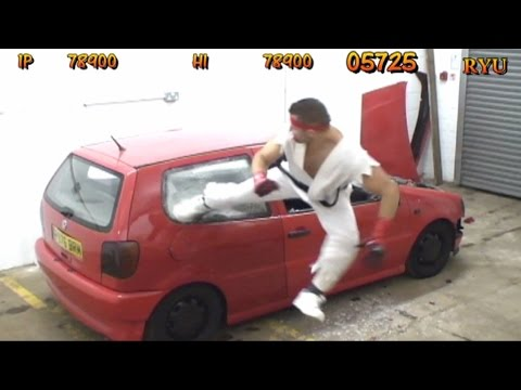 Car Smashing Bonus Stage From Street Fighter In Real