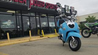 7. 150cc icebear bullet classic scooter in action must see