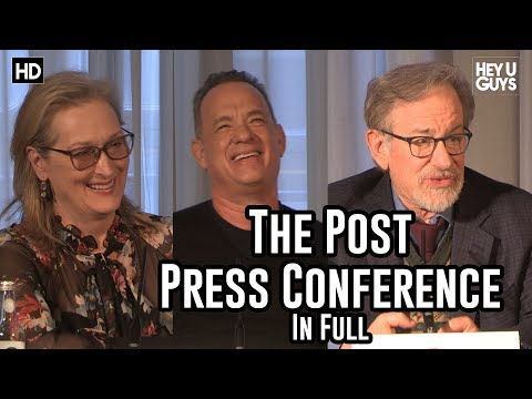 The Post Press Conference - Steven Spielberg, Tom Hanks & Meryl Streep