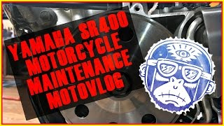 7. 2015 Yamaha SR 400 Valve Adjustment With Do It Yourself Tappet Tools Motorcycle Maintenance Motovlog