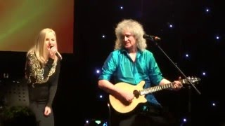 """FULL HD ♫ Brian May & Kerry Ellis  """"Crazy Little Thing Called Love"""" Live Firenze Obihall"""