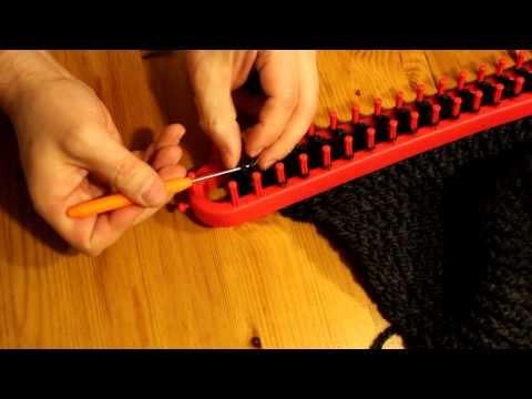 Schal mit Strickrahmen stricken Teil 04/07: Abschluss
