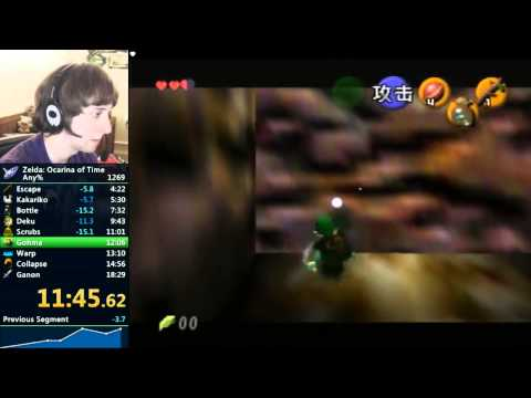 Legend Of Zelda: Ocarina Of Time Speedrun - 18:10 By Cosmo Wright (Live)