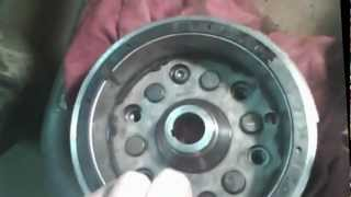 7. Taking Yamaha 350 Warrior flywheel off/starting problem