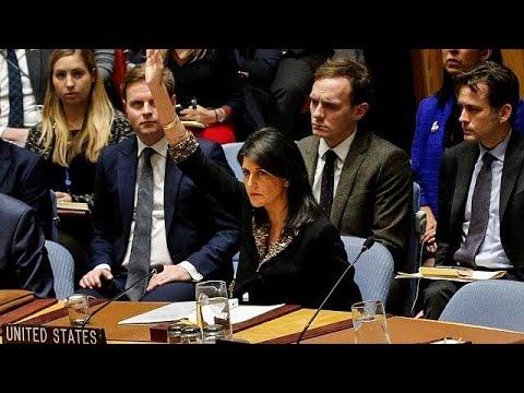 Αμερικανικό βέτο σε ψήφισμα του ΟΗΕ κατά της απόφασης για την Ιερουσαλήμ…