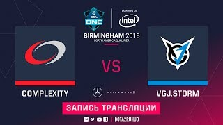 compLexity vs VGJ.Storm, ESL One Birmingham NA qual, game 2 [Lum1Sit]