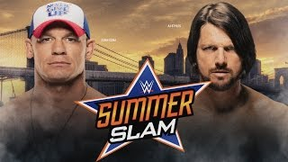 WWE 2K16 PS3 AJ Styles Vs John Cena Summerslam Highlights