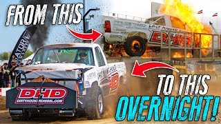 They rebuilt their 2000HP truck in ONE NIGHT. by 1320Video