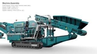 Animated video of the Powerscreen 1000 Maxtrak mobile cone crusher