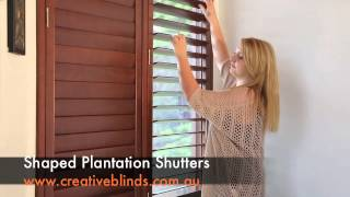 Shaped Plantation Shutters Byron Bay