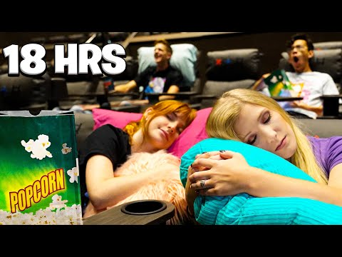 Overnight Survival Challenge in a MOVIE THEATER!