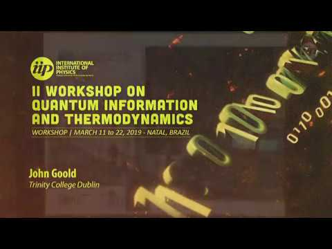 Thermodynamics of precision in quantum non equilibrium steady states - John Goold